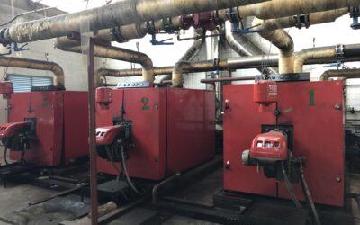 Inspección de sala de calderas y de la red de distribución de calor